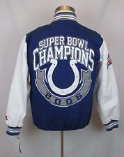 New Small Men's NFL Indianapolis Colts 2006 Super Bowl Thermal Letterman Jacket