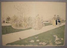 Le Jardin des Tuileries, Edouard Vuillard, Lithograph, Limited Vintage