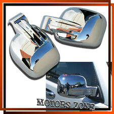 For 02-07 Jeep Liberty Chrome Side View Mirror Covers Caps Set 07 06 05 04 03 02