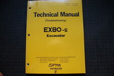 Hitachi EX80-5 Excavadora Ténico Manual Servicio Reparación Tienda Oem Guía