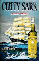 Cutty Sark Scotch Whiskey Embossed Metal Sign  (hi  3020)