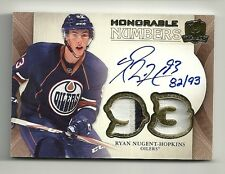 2011-12 Upper Deck The Cup Honorable Numbers RYAN NUGENT HOPKINS Auto #82/93