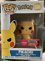 Funko POP! Grumpy Pikachu *Flocked* 598 Angry Pokemon 2020 Fall Convention NYCC