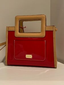 Frances Valentine (Kate Spade) Red Patent Leather Lindsay Small Shopper Bag NWT