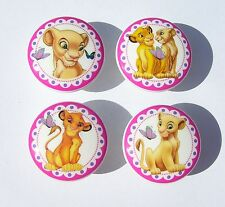 4 SET LION KING NALA BABY GIRLS MTM BEDDING DRESSER DRAWER KNOBS MADE AS ORDERED