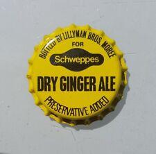 SCHWEPPES DRY GINGER ALE Unused Bottle Cap 1970's Soft Drink