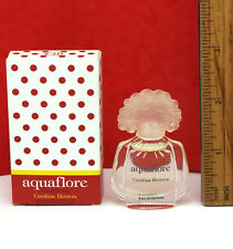 AQUAFLORE by Carolina Herrera EDT Splash Mini .13 oz / 4 ml New in Box