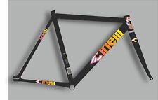 CINELLI MASH Bicycle Bike Frame Decal Sticker Set Vinyl Sheet Oil Slick Colorful