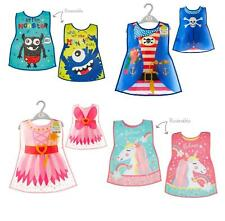 Childrens Novelty Wipe Clean Apron Tabard Girls Boys Reversible