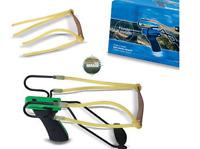kit fionda doppio elastico potente + elastici ricambio precisione professionale
