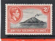 Solomon Isles GV1 1939 2s black & orange sg 69 HH.Mint