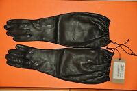 AUTHENTIC NEW WOMEN'S BOTTEGA VENETA BLACK NAPPA LEATHER GLOVE,Size 6,5