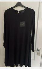 ASOS Black Petite Swing Dress Size 12 BNWT