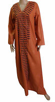 Egyptian Cotton Embroidered  Kaftan Caftan Jilbab Galabeya Abaya Islamic  439