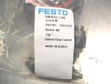 QTY 8 -   FESTO 13115223  GRLA-G1/4-QB-1/4 U-M   New in Bag