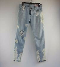 SIWY Boyfriend Cut Jeans with Bleached out spots and Shredded Knees Sz 25