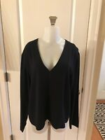 Eileen Fisher Black 100% Silk One Button Cardigan Jacket -Size Medium
