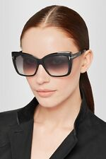 Tom Ford TF 390 s 01b Irina Ft0390 Black Gold Greysmoke Lens Women Sunglass  Case 74c6bf3da0fa