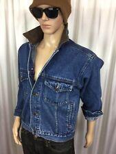 vintage MARLBORO Country ranch western/denim/trucker/blue jean jacket men's S