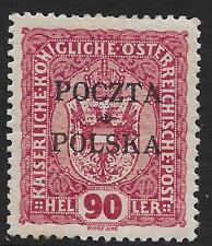 Poland stamps 1919 MI 42 signed  MLH  F/VF