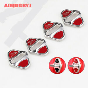 4pcs For Jaguar E-PACE 2018-2019 red Stainless Car Door Lock Guard Cover