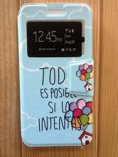 Funda (case) interior silicona con tapa (libro) para Huawei G8 MINI
