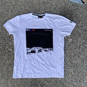 Men's BMW M Motorsport White T-Shirt Size Xtra Large (XL) (A)