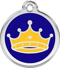 King Enamel/Solid Stainless Steel Engraved ID Dog/Cat Tag