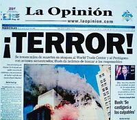 World Trade Center 9/11 2001 Newspaper Los Angeles La Opinion WTC VTG Original