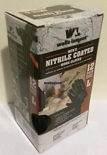 New 12 Pairs Wells Lamont Men's Nitrile Coated Work Gloves Size Large Or Medium