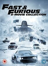 Fast and Furious Complete 1 2 3 4 5 6 7 8 DVD Box Set R2 The Fate of the Furious