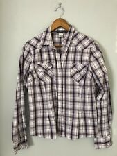 La Redoute Purple Cotton Checked Shirt Size 14, Casual, Holiday, Summer