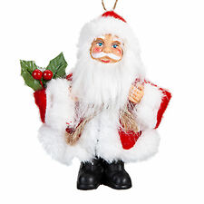 Christmas Standing / Hanging Mini Santa Decoration - Red / White