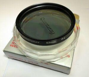 Quantaray 62mm PL Polarizer Polar Lens Filter mint excellent condition