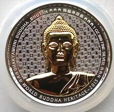 Bhutan 2015 Buddha Shakyamuni 250 Ngultrums 1oz Silver Coin,Proof