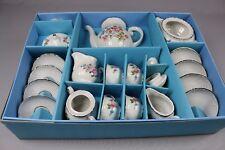 ZB715 Kahla 763774 Jeu vintage Service fleur tasse théière 4 enfants porcelaine