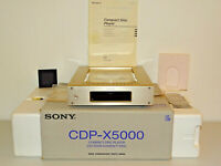Sony CDP-X5000 High-End CD-Player in Champagner, OVP&NEU, 2 Jahre Garantie