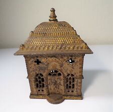 New ListingRare Antique Cast Iron Painted Home Savings Building Bank