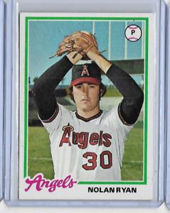 NOLAN RYAN 1978 TOPPS BASEBALL VINTAGE CARD #400 - ANGELS