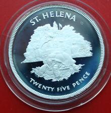 Saint-St. Helena: 25 Pence 1977 Silber, KM# 6a, PP-Proof, #F 1007