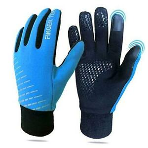 Winter Gloves For Kids Touchscreen Boys Girls, Youth Running Cycling Small Blue
