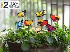 Butterfly Stakes Outdoor Yard Planter Ginsco 25pcs Flower Pot Bed Garden Decor