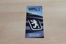 113666) Peugeot 605 - Preise & Extras - Prospekt 06/1997