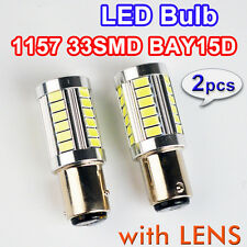 White 1157 BAY15D P21/5W LED Bulb Projector 33SMD Car Backup Back 12V Tail Light