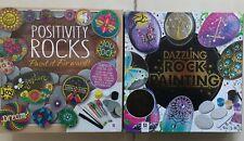 Rock / Pebble Craft Sets - Positivity Rock and Dazzling Rock 2 Painting Kits Set