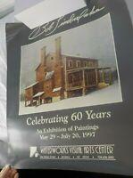 1997 Vintage Bob Timberlake Celebrating 60 Years Rare Poster Print