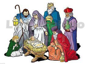 ADESIVO FINESTRA NATALE NATIVITà PRESEPE GESù WINDOW CHRISTMAS NATIVITY STICKERS