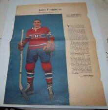 John Ferguson # last one Weekend  Magazine Photos 1963-64  Toronto Star lot 4