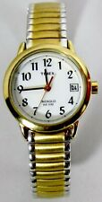 Timex Indiglo Watch WR 30M Easy Read Reader Date Expanding Bracelet Satin Finish