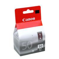 Genuine Canon PG50 Ink Cartridge, Fink Black Ink Cartridge, High Yield, New